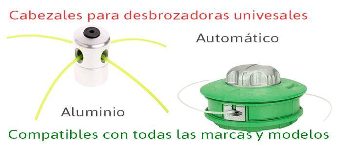 Cabezales para desbrozadoras universales y automáticos