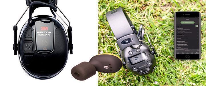 Cascos de protección auditiva con bluetooth