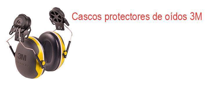 Cascos protectores de oídos 3M
