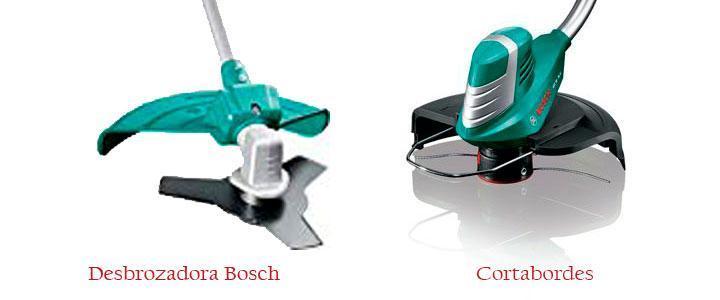 Diferencias entre desbrozadora y cortabordes Bosch