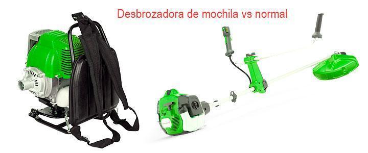 Desbrozadora de mochila o normal ¿cuál es mejor?