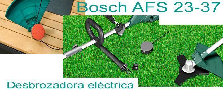 Desbrozadora eléctrica Bosch AFS 23- 37, accesorios hilo y disco