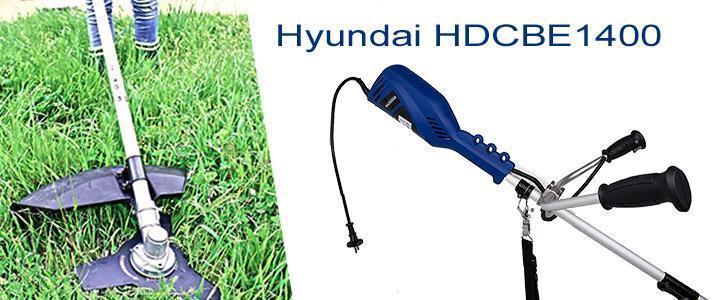 Características de la desbrozadora eléctrica Hyundai HDCBE1400 con 1400W