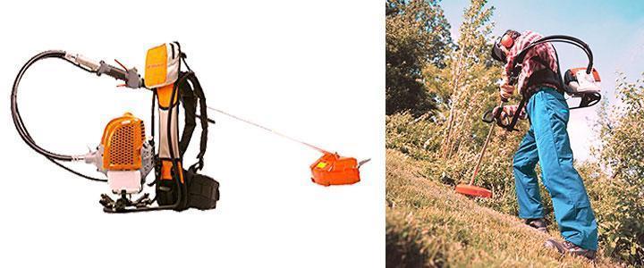 Uso de la desbrozadora de mochila Anova en trabajos forestales