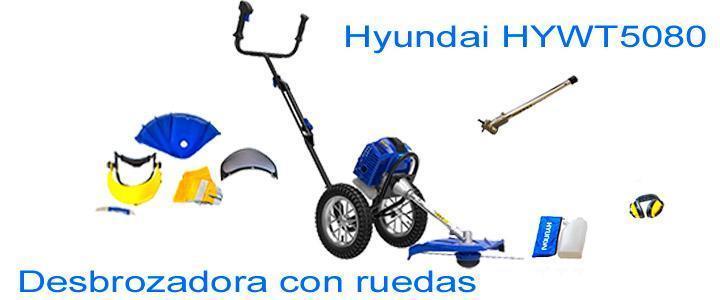 Desbrozadora con ruedas marca Hyundai