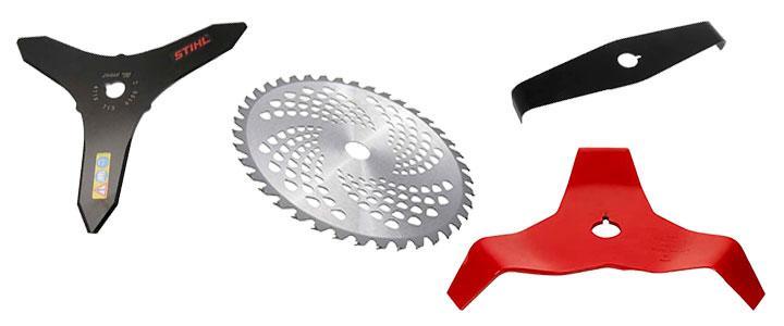Discos y cuchillas para desbozadoras