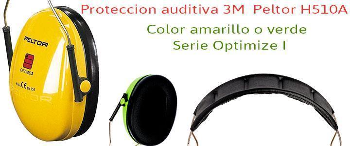 Protector auditivo 3M Peltor Opptime I H510A